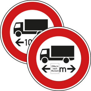 VZ 266 Schild: Verbot für Fahrzeuge über angegebene Länge
