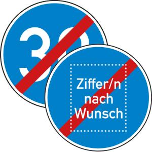 Mindestgeschwindigkeit Ende - Verkehrsschild VZ 279
