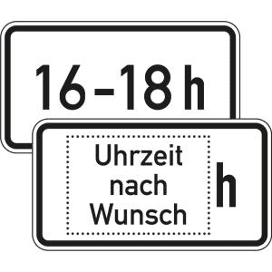 Zusatzzeichen 1040-30 Zeitliche Beschränkung individuell