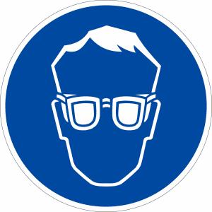 Gebotszeichen Augenschutz benutzen (BGV A8 M 01)