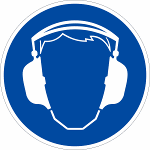 Gebotszeichen - Gehörschutz benutzen (BGV A8 M 03)
