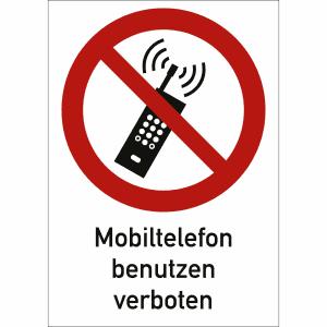 Kombischild Mobiltelefone benutzen verboten