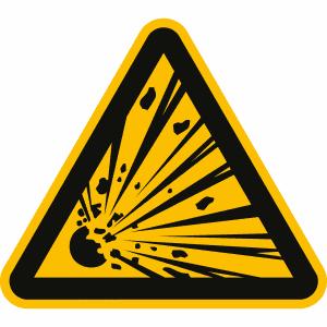 Warnschild Warnung vor explosionsgefährlichen Stoffen nach DIN EN ISO 7010 (W 002) ASR A.3