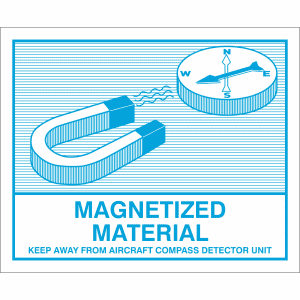 Gefahrzettel Magnetisches Material (Magnetized Material)