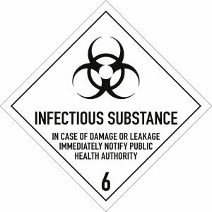 Gefahrgutetiketten Klasse 6.2 - Infectious substance