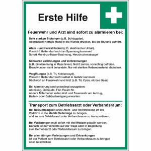 Erste Hilfe Maßnahmen