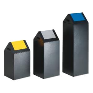 Wertstoffsammler, selbstlöschend, mit Schwingdeckel - Inhalt 43 / 60 / 89 Liter