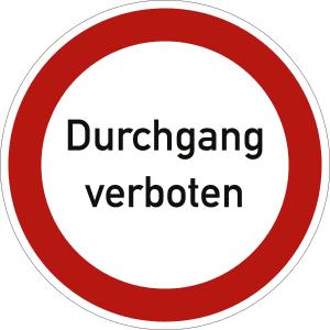 Durchgang verboten