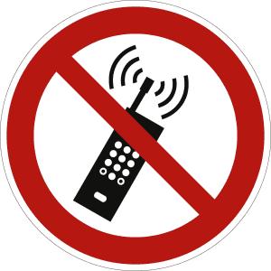 Mobilfunk verboten nach ISO 7010 (P 013)