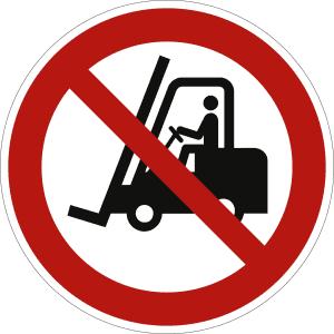 Für Flurförderfahrzeuge verboten nach ISO 7010 (P 006)
