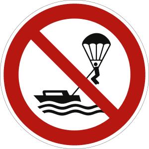 Parasailing verboten nach ISO 20712-1 (WSP 019)