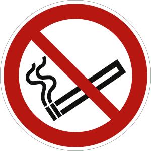 Rauchen verboten nach ISO 7010 (P 002)