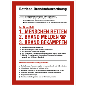 Betriebs-Brandschutzordnung