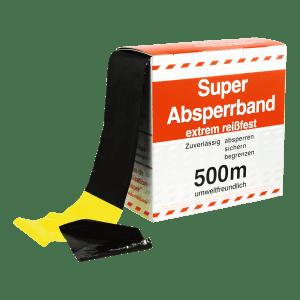 Flatterband / Folienabsperrband gelb/schwarz