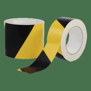 Warnmarkierungsband aus Zellwollgewebe, rechtsweisend - Rolle
