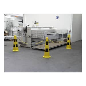 Warnkegel-Set: 3 Warnkegel + 5 m Kunststoffkette