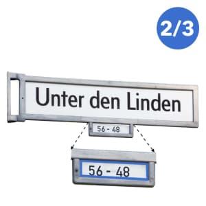 Berliner Straßennamenschild Legendschild Hausnummern