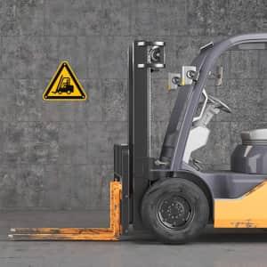 Warnung vor Gabelstapler nach ISO 7010