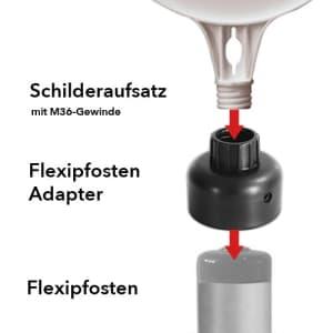 Schilderaufsatz für Flexipfosten