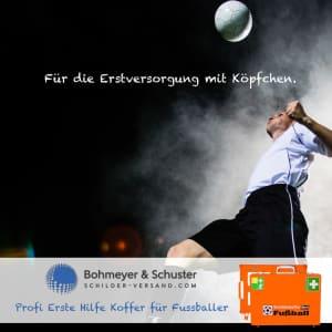 Erste-Hilfe-Koffer-Fussball Kopfball Verteidiger