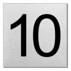 Türnummer - Ziffer 1 bis 12 (quadratisch)