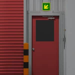 Richtungsangabe diagonal nach ISO 7010, ISO 3864