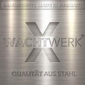 Regalanfahrschutz Leitbord WACHTWERK X® aus Stahl - 6 mm oder 8 mm LOGO