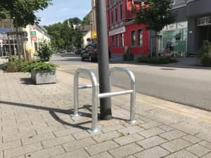 Baum- und Säulenschutzbügel mit Querholm, Ø 60 mm