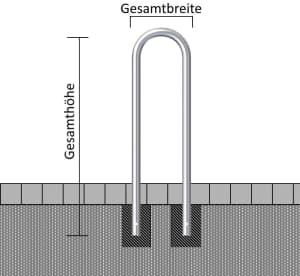 Universalbügel zum Baum- und Säulenschutz