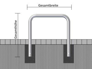 Rammschutz- und Absperrbügel aus Stahl, Ø 76 mm