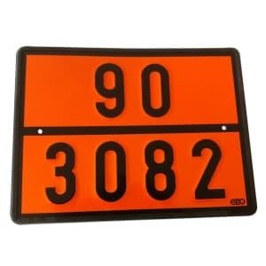 Warntafel starr mit individueller Ziffern-Kennzeichnung nach GGVSEB / ADR