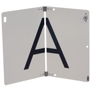 Abfallwarntafel - klappbare A-Tafel mit Drehverschluss