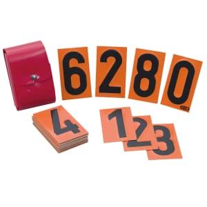 Ziffernsatz für orange Warntafeln