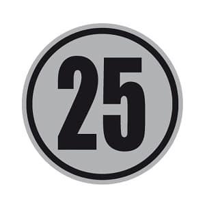 Geschwindigkeitsschilder 25 km/h