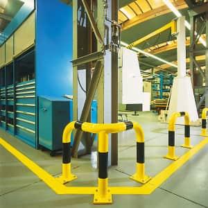 Eckschutzbügel WACHTWERK X® aus Stahl - Stärke S Ø 76 mm