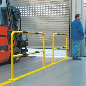 Boden-Schutzbügel WACHTWERK X® aus Stahl - Stärke XS Ø 48 mm