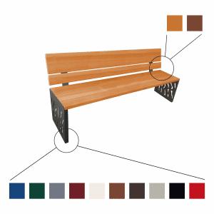 Sitzbank VENEDIG - Rückenlehne aus Holz