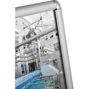 Flachspiegel ohne Glassplitter mit Rahmen - nach HACCP