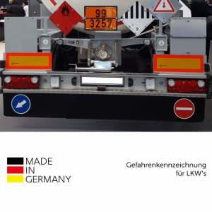 4er Set Heckmarkierung zur Viertelmarkierung von Lkw-Anhänger und Auflieger
