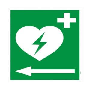 Defibrillator Pfeil links (BGV A8  VBG 125)