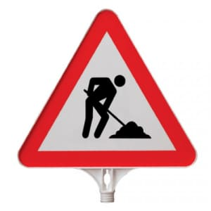 Schilderaufsätze Bauarbeiten - Dreieckiges Schild