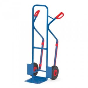 Stahlrohrkarre mit kleiner Schaufel und auswechselbaren Gleitkufen - Tragkraft 300 kg