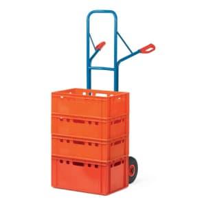 Stahlrohrkarre großer Schaufel und hohem Gestell - Tragkraft 300 kg