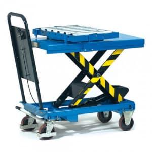 Rollenbahn mit Kugeldrehkranz - Tragkraft 500 kg