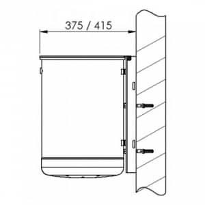 Rund-Abfallbehälter mit Deckelscheibe - Inhalt 35 / 50 Liter
