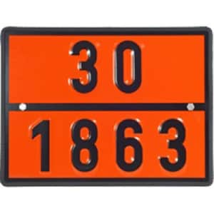 Warntafel für Düsenkraftstoff