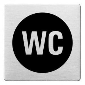 Textschild - WC (ecken abgerundet/schwarz)