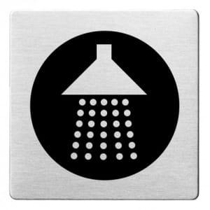 Piktogramm - Dusche (ecken abgerundet/schwarz)
