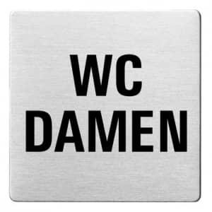 Textschild - WC Damen (ecken abgerundet)