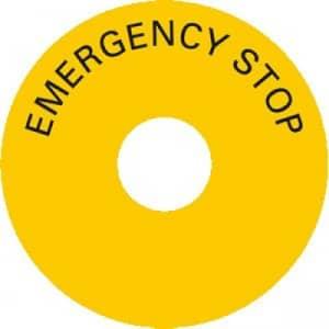 Schild -  EMERGENCY STOP